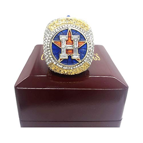 - 2017 Houston Astros World Series Replica Championship Ring with Wooden Box (Size 8-14) (10)