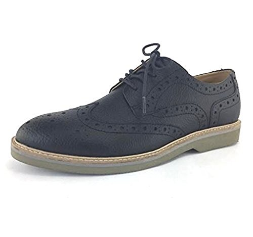 Scarpe Oxford In Pelle Di Vitello Con Finitura Antipioggia Nera
