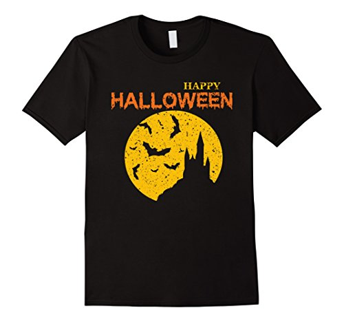 Halloween Costumes Castle Hill - Mens New 2017 Vintage Happy Halloween Tshirt Halloween Clothing XL Black