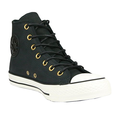 Converse Chuck Taylor All Star Leather/Corduroy Hi (11 B(M) US Women / 9 D(M) US Men, Black/Egret/Black)