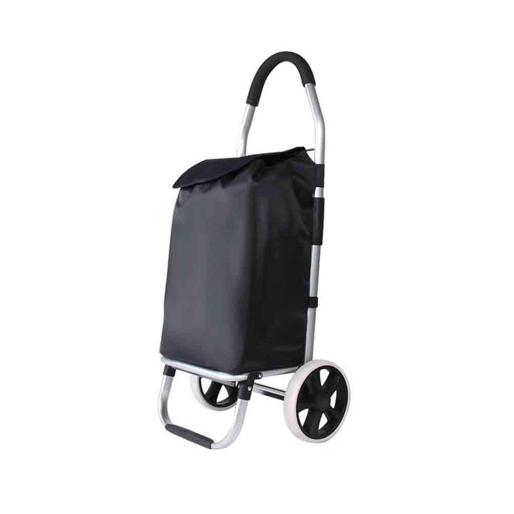 XF ショッピングキャリー ポータブルトロリー車トロリーオックスフォード布ショッピングカート荷物カートクライミング階段ショッピングカート車輪付きトローリー荷物用トロリー (´••`)   B07KSQFLYZ