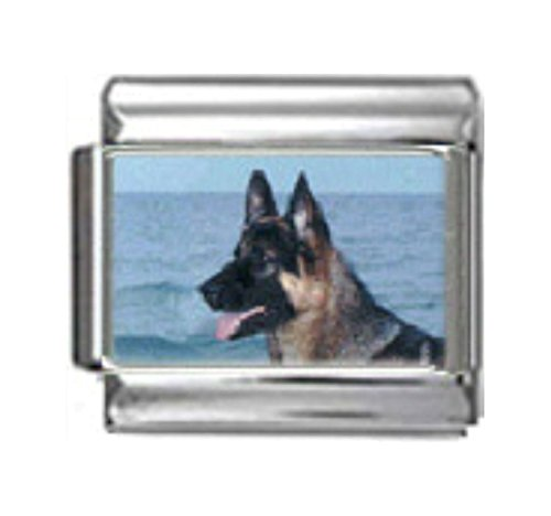 Stylysh Charms German Shepherd Dog Photo Italian 9mm Link DG205