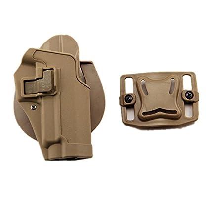 haoYK Tactical Airsoft Pistola Oculta Draw Rightded Paddle Cintura Cinturón Holster Bolsa SIG SAUER P226 P228 P229 (Negro)