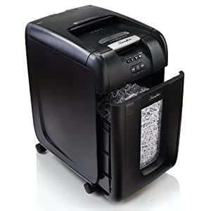 Swingline Auto Feed Paper Shredder, 300 Sheets, Super Cross-Cut, 5-10 Users, Stack-and-Shred 300X (1757576)