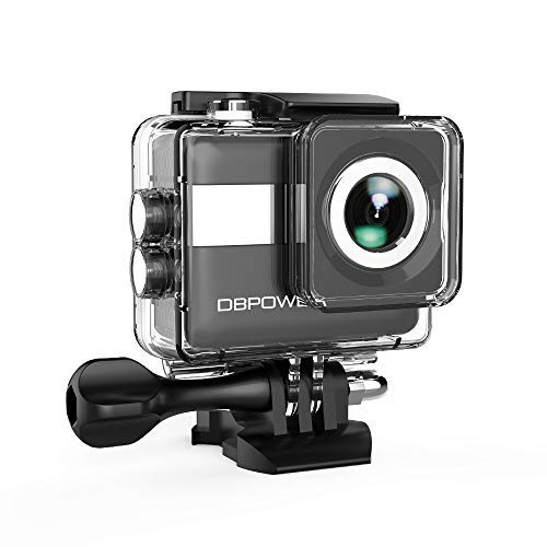 """DBPOWER N6 4K Touchscreen Action Camera, 2.31"""" LCD Touchscreen 20MP Sony Image Sensor 170° Wide-Angle Waterproof WiFi Sports Camera, 2 Batteries included in Accessories Kit DBPOWER"""