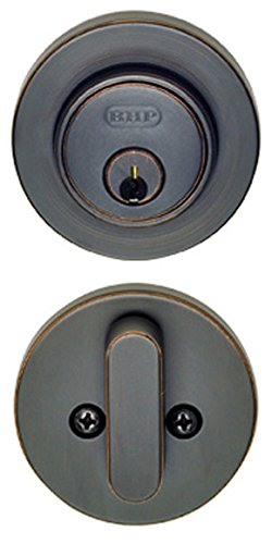 Better Home Products Low Profile Cylinder Deadbolt, Single, Satin Nickel