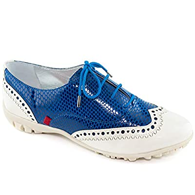 Womens Genuine Leather Made in Brazil Golf NYC Laceup Performance Fashion Shoe
