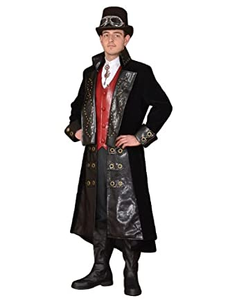 Steampunk Men's Coats Steampunk Theatrical Victorian Costume Suit  AT vintagedancer.com