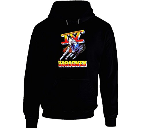 Four Horsemen WCW Wrestling Hooded Pullover - Black XL Black by The Village T Shirt Shop