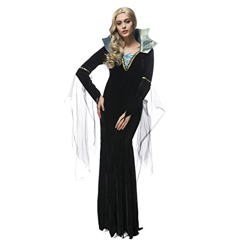 [Oxfox Halloween Costume Women Vampire Fancy Dress Party Masquerade Drama M] (Toddler Vampire Halloween Costumes)