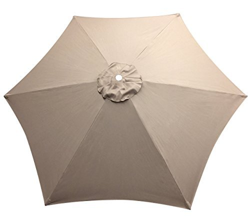 9 ft REPLACEMENT TOP for 6 Ribs Patio Umbrella Cover Outd...