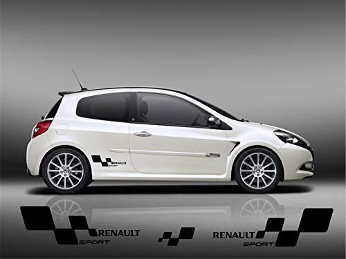 For 2pcs Pair Renault Clio Megane Twingo Sport Cup Rs Stickers Decals Graphics R27 Trophy 197