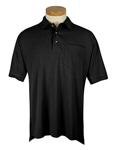 Tri-Mountain Mens 60/40 Stylish Pique Knit Pocket Golf Shirt (18 Color, S-6XLT)
