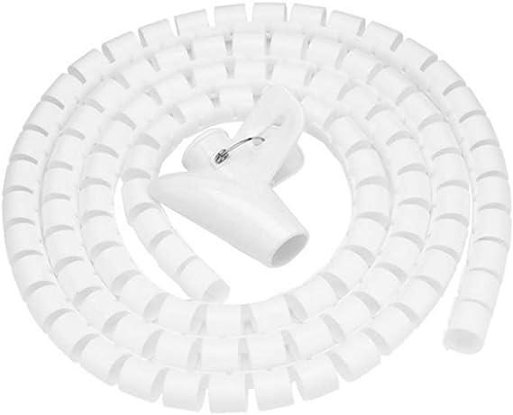 Kabelschlauch Mit Spiralbindung Zuschneidbar Flexibel Kabelkanal Kabelschutz Kabel Organizer Für Tv Pc Draht Verwaltung Und Organisation 20 Mm Weiß Baumarkt