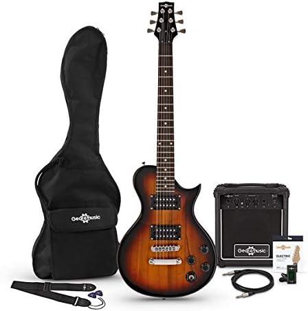 Guitarra Electrica New Jersey II 3/4 + Paquete de Amplificador de 10 W Sunburst