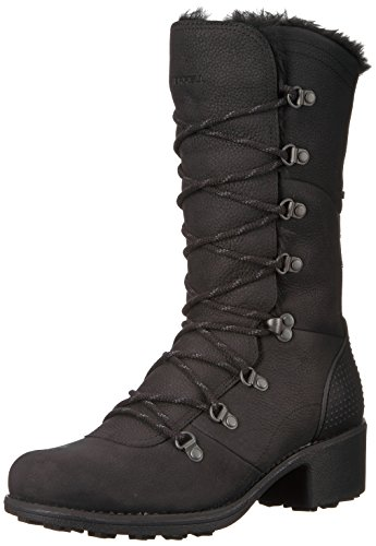 Ladies Lace Merrell Black Winter Polar Chateau Womens Waterproof Boots Tall 1ZxIx5gw