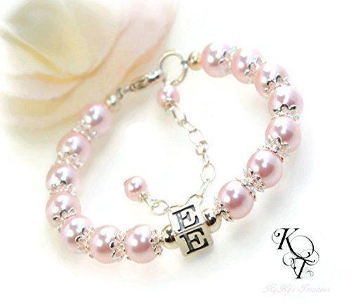 Amazon Com Baby First Bracelet Baby Pearl Bracelet Girls