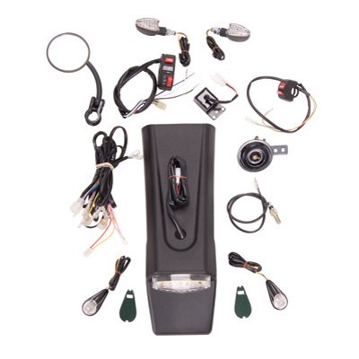 Universal Motorcycle Enduro Lighting/Street Legal Kit WITH Battery Pack