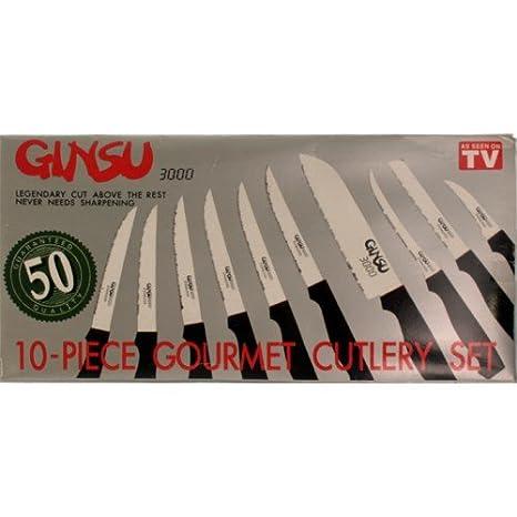 Ginsu 3000 Set de 10 Cuchillos Cuchillos económicos