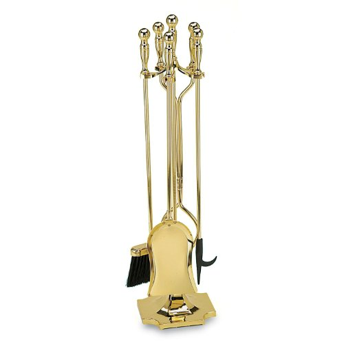 Minuteman International Polished Brass-Plated Fireplace Tool Set by Minuteman International