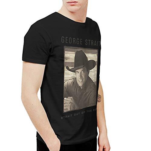 BowersJ George Strait Strait Out of The Box Men's T-Shirts Black M