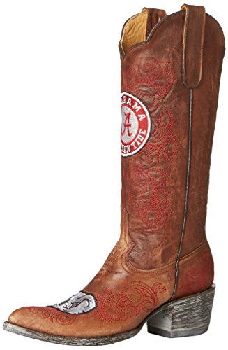 Ncaa Alabama Crimson Tide Damen 33 Cm Gameday Stiefel Messing