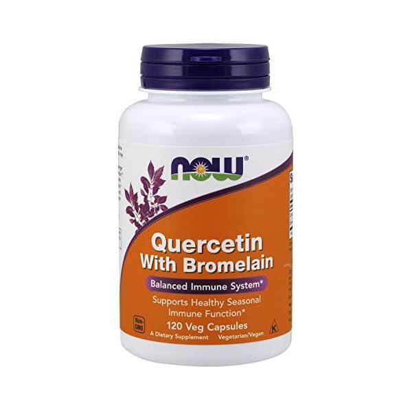 Now Quercetina Con Bromelina 120 Veg Capsule – 120 g