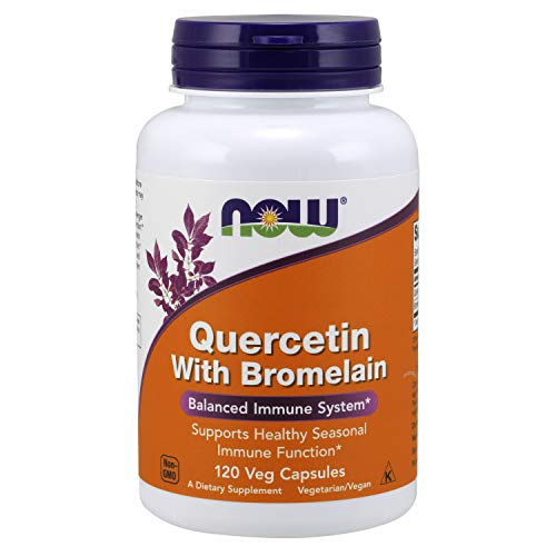 NOW Supplements, Quercetin with Bromelain, 120 Veg Capsules (Best Decongestant For High Blood Pressure)