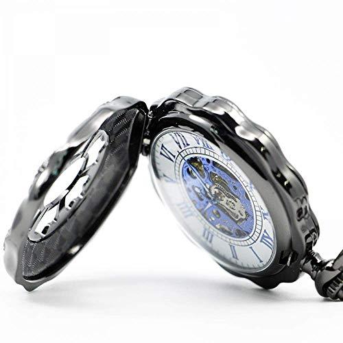 ZJZ vintage fickur metall mekanisk vintage fickur klockor män kvinnor hänge klocka gåva med gåva