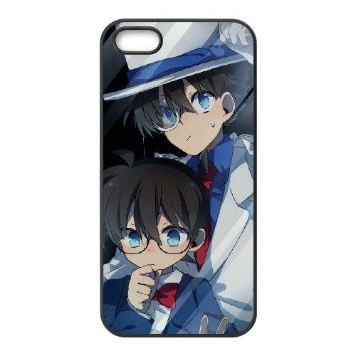 Z5M97 Detective Conan H5B2ZM coque iPhone 4 4s cellulaire cas de téléphone couvercle coque noire SE3ILH6BC