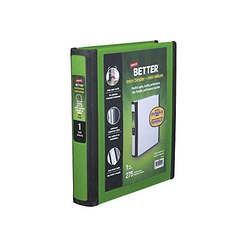 Staples BETTER mini binder 1 (Green) (Binder Staples Mini)