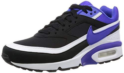 NIKE Mens Air Max BW OG Running Shoes Black/White/Persian Violet 819522-051 Size 9.5