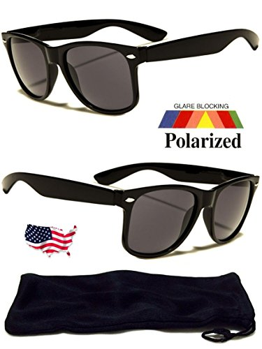 New Polarized Wayfarer Sunglasses Retro Glasses Vintage Frame Unisex Fashion - Lee Bruce Brand Sunglasses