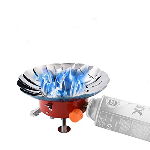 Price comparison product image Camping Stove ,  2800W Portable Backpacking Stoves ,  Cooker Fire Small Outdoor Butane Fuel Ultralight ,  Lightweight Metal Windproof Gear Tripod Mini Pocket Canister Hiking For BBQ ,  Outdoor ,  Travel