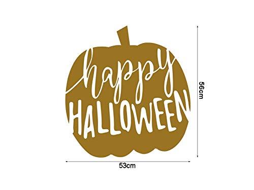 OVIIVO Halloween Wow Halloween Wall Art Home Decoration Wall Mirror Window Stickers ()