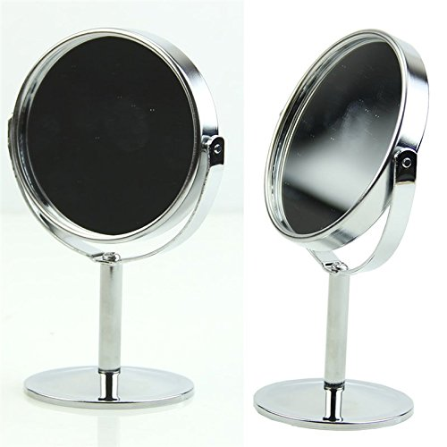 Wall of Dragon Mini Circular Makeup Pocket Mirrors Dual 2 Sided 1PC Women Stand Cosmetic Mirror Metal and Glass Magnifying Small Mirror Fashion by Wall of Dragon