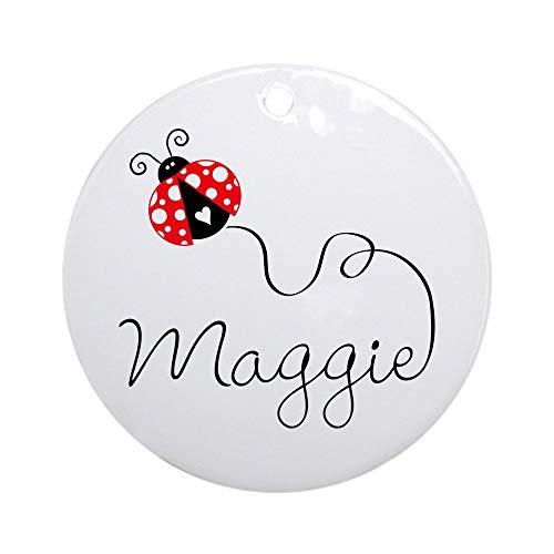CafePress Ladybug Maggie Ornament (Round) Round Holiday Christmas Ornament