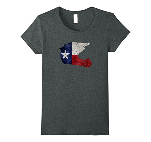 Womens Texas Motocross Dirt Bike Texas Flag T-Shirt Small Dark Heather Texas Dirt Shirt