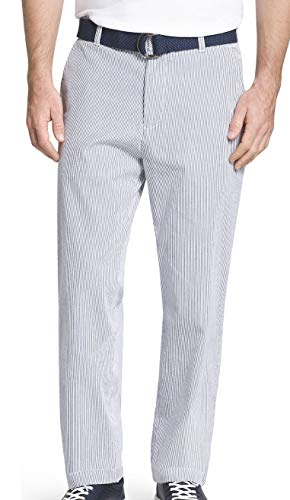 IZOD Men's Big & Tall Seersucker Stripe Pants (44W 30L) Cadet Navy ()