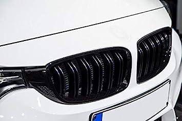 Kühler Sport Front Doppel Rippen Grill Nieren Schwarz Matt Eintragungsfrei Set Auto