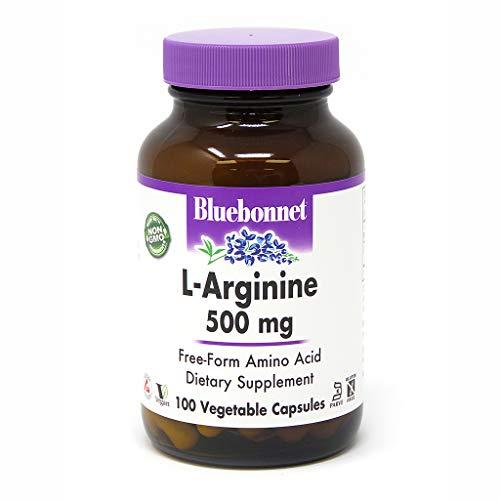 Bluebonnet L-Arginine 500 mg Vitamin Capsules, 100 Count