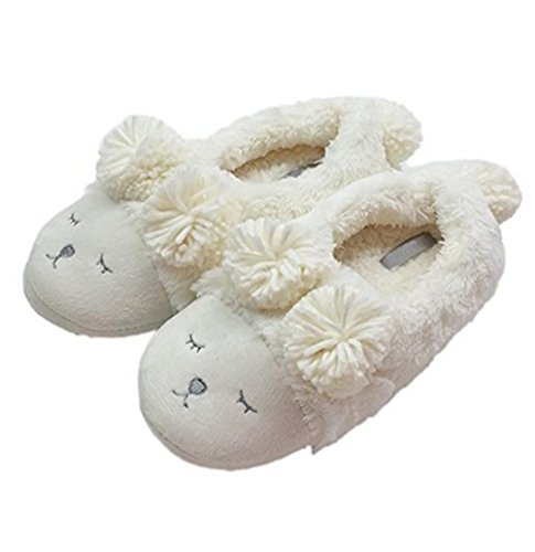 Chaussons WDGT white Coton et Hommes d'intérieur Anti on Chaussons Slip Femmes Pantoufles Peluche Dérapant Chaussons Femmes rqxwRr01