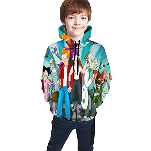 Futurama Halloween Special (QIMING SHIPPING Futu-rama 3D Printing Unisex Pullover Hooded Sweatshirts for Teen Boys/Girls Kids)