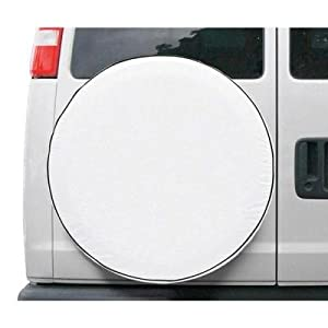 Classic Spare Tire Cover for RVs, Vans, or Trucks- Model 1 White