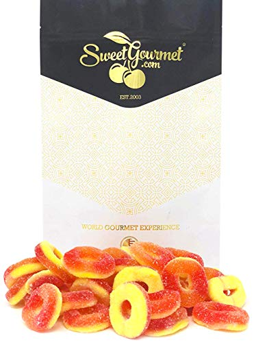 (Trolli Peachie-O's Gummi - Peach Candy Gummi Rings 1 pound)