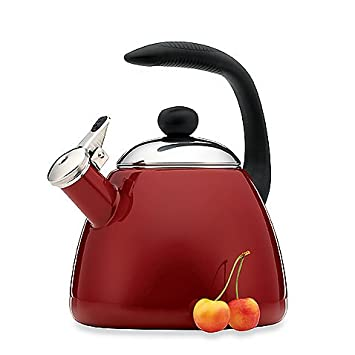 Farberware Bella 2.5-Quart Tea Kettle in Red