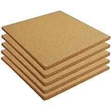 """Cork Sheet Plain 12"""" X 12"""" X 3/16"""" - 5 Pack"""