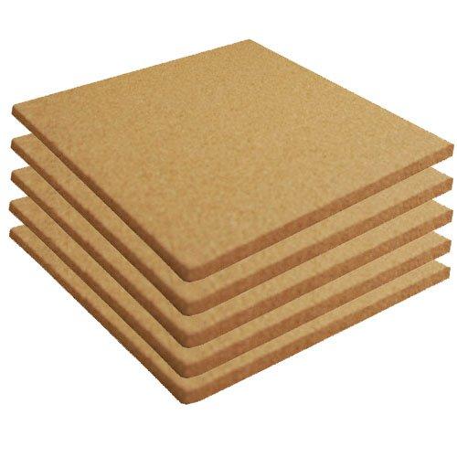 Cork Sheet Plain 12'' X 12'' X 3/4'' - 5 Pack by Cleverbrand Inc.
