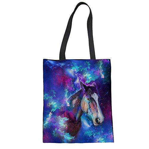 Advocator Frauen Reisen Tragetaschen Stylish Print Handtasche zum Einkaufen Casual Beach Bag für Urlaub Color-13 5v2RM