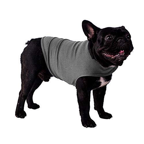 Apetian Dog Cloth Dog Summer Vest (Medium, Light Grey) ()
